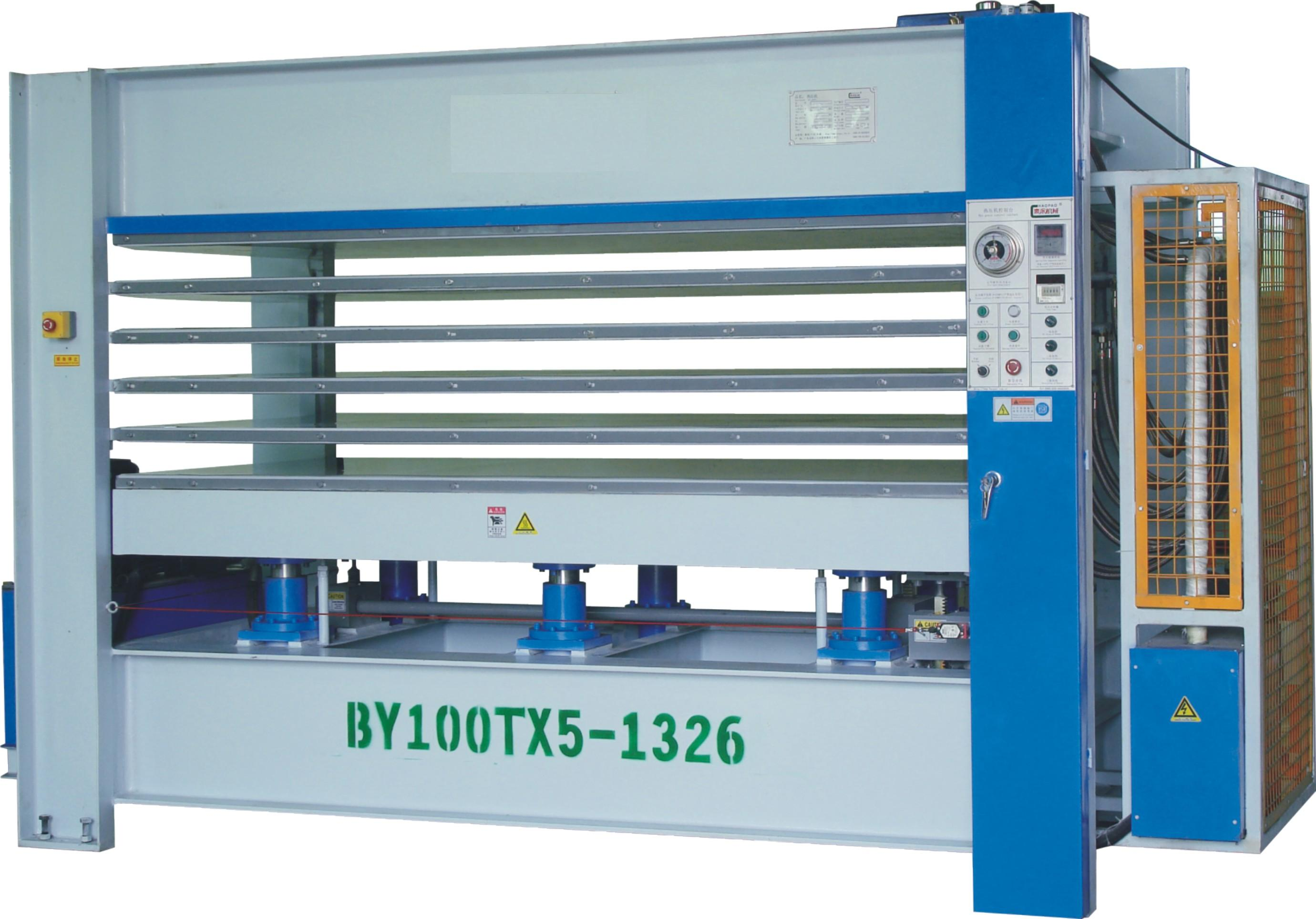 Hot press of 100ton with 5 layers